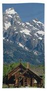 1m9335-chapel And Grand Teton Beach Towel