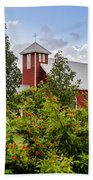 Chapel At The Antique Rose Emporium Beach Towel