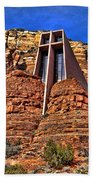 Chapel Of The Holy Cross  Sedona Arizona Beach Towel