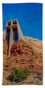 Chapel Of The Holy Cross Sedona Az Front Beach Towel