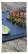 Char Grilled Salmon Beach Towel