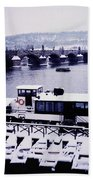 Charles Bridge In Winter Beach Towel