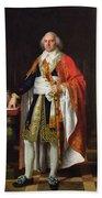 Charles Louis Francois Letourneur 1751-1817 1796 Oil On Canvas Beach Towel
