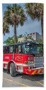 Charleston Fire Dept  Beach Towel