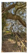 Charleston Oak Stairway Beach Towel