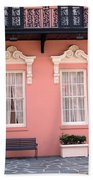 Charleston South Carolina - The Mills House - Art Deco Architecture Beach Towel