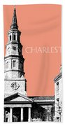Charleston St. Phillips Church - Salmon        Beach Towel