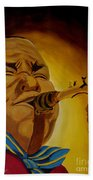 Charlie Parker-legends Of Jazz Beach Towel