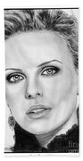 Charlize Theron In 2008 Beach Towel