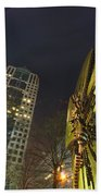 Charlotte Downtown At Night Beach Towel