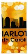Charlotte Nc 3 Beach Towel by Angelina Vick