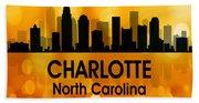Charlotte Nc 3 Squared Beach Sheet