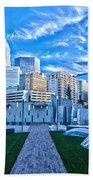 Charlotte Nc Usa - Charlotte Skyline  Beach Towel