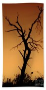Charred Silhouette Beach Towel