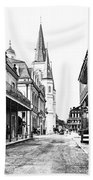 Chartres St In The French Quarter 3 Beach Towel