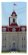 Chase County Courthouse In Kansas Beach Towel