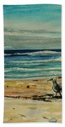 Chasing The Seagull Beach Towel