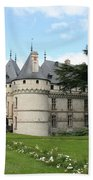Chateau Chaumont From The Garden  Beach Towel
