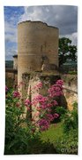 Chateau Chinon In The Loire Valley Beach Towel