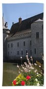 Chateau De Sully-sur-loire And Moat Beach Towel