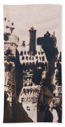 Chateau Fortified By Two Bridges Beach Towel by Victor Hugo