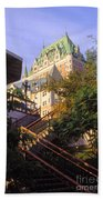 Chateau Frontenac In Quebec Beach Towel
