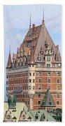Chateau Frontenac Quebec City Canada Beach Towel