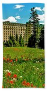 Chateau Lake Louise In Banff Np-alberta Beach Towel