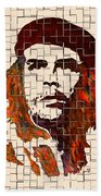 Che Guevara Watercolor Painting Beach Towel