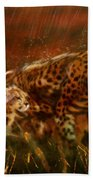 Cheetah Family After The Rains Beach Towel