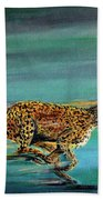 Cheetah Run Beach Towel