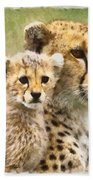 Cheetah Two Beach Towel
