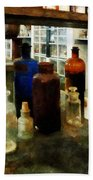 Chemistry - Assorted Chemicals In Bottles Beach Towel