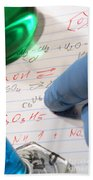 Chemistry Formulas In Science Research Lab Beach Towel