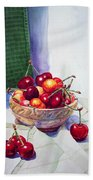 Cherries Beach Towel by Irina Sztukowski