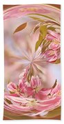 Cherry Blossom Orb Beach Towel