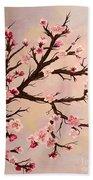 Cherry Blossoms 2 Beach Sheet