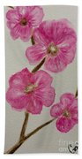 Cherry Blossoms Blooming  Beach Towel