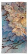 Cherry Blossoms N Lace Beach Towel