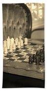 Chess Game Beach Towel