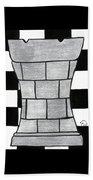 Chess Rook Beach Towel