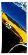 Chevrolet Chevelle Ss 396 Side Emblem Beach Towel