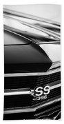 Chevrolet Chevelle Ss 398 Grille Emblem Beach Towel