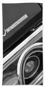 Chevrolet Chevelle Ss Taillight Emblem Beach Towel by Jill Reger