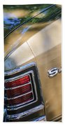 Chevrolet Chevelle Ss Taillight Emblems Beach Towel