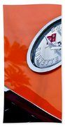 Chevrolet Corvette Hood Emblem Beach Towel