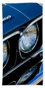Chevrolet El Camino Hood Emblem - Head Lights Beach Towel