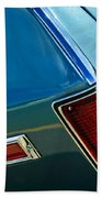 Chevrolet El Camino Taillight Emblem Beach Towel