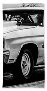 Chevy Chevrolet Chevelle Ss Burning Rubber Beach Towel