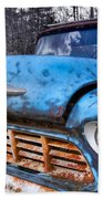 Chevy In The Woods Beach Towel by Debra and Dave Vanderlaan